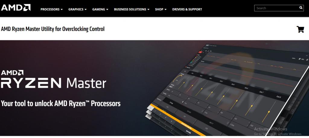 AMD Ryzen Master software